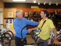 Inagurating a bike rental program in Sandpoint, Idaho