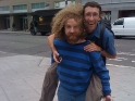 Piggy-back ride with Paul in Seattle