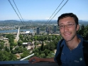 Riding the aerial tram in Portland