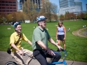 Still riding tandem with Mayor Adams photo by Daniel Stark